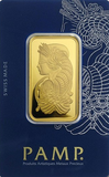 Image of PAMP 1 Ounce Gold Bar - Call for Lowest Price