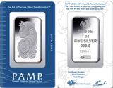 Image of PAMP Suisse 1 oz silver bullion bar - 999 fine investment grade silver bullion. Out of Stock