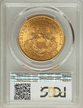 Rare D-Mint $20 Lib – 1906-D Liberty Double Eagle PCGS MS65