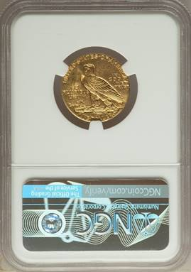 Rare Unc. Key Date 1929 Indian Half Eagle NGC MS62