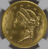 Image of Rare Uncirculated 1858-S Liberty Double Eagle NGC MS62