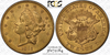 Image of San Fran $20 Civil War Issue – 1861-S Liberty Double Eagle PCGS MS61
