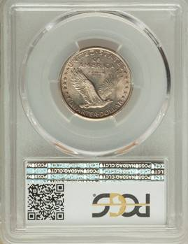Satiny Sixteen Rarity – 1916 Standing Liberty Quarter PCGS/CAC MS64FH