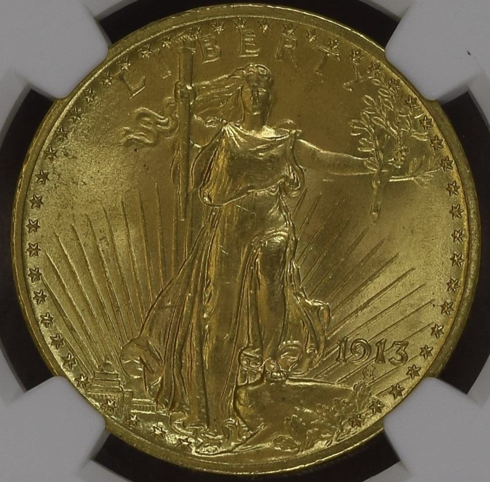 Seldom Seen Gem Saint – 1913 Saint Gaudens Double Eagle NGC MS65