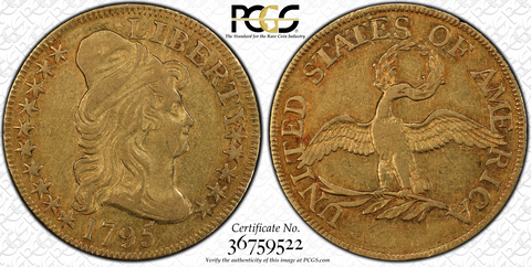 Small Bird – 1795 Small Eagle Half Eagle PCGS XF45