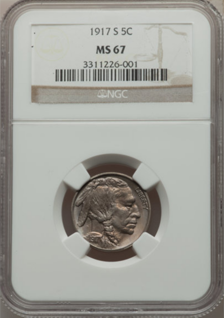 THE Only One – 1917-S Buffalo Nickel NGC MS67