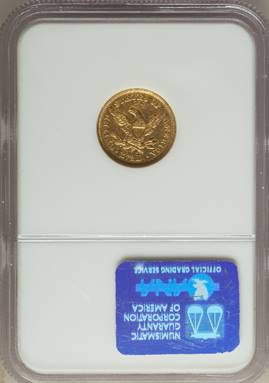 "1848 ""Cal"" Liberty Quarter Eagle NGC XF45"