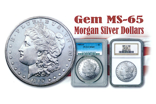 Gem MS-65 Morgan Silver Dollar