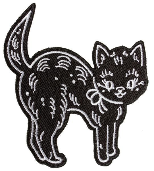 Sourpuss Creep Heart Cat Patch