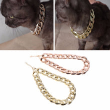 Load image into Gallery viewer, Gold Chain Pets Safety Collar