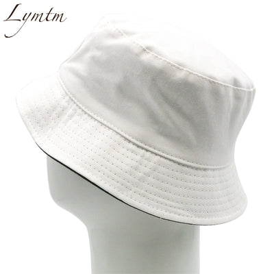 146f47cbac729 Quick View ·  Lymtm  Simple Solid White Bucket Hat Women Men Summer  Foldable Beach Wide brim Casual ...