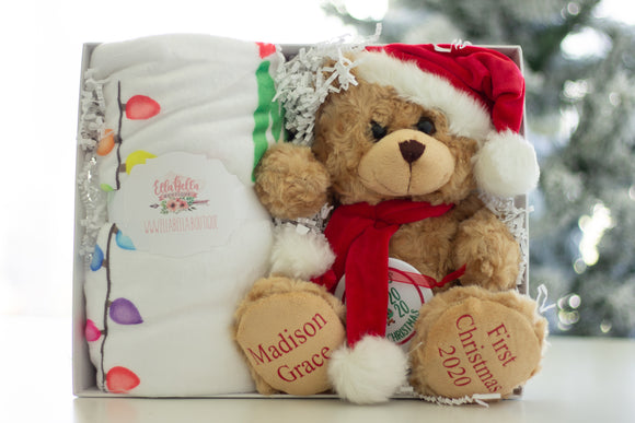 Custom First Christmas Gift Basket