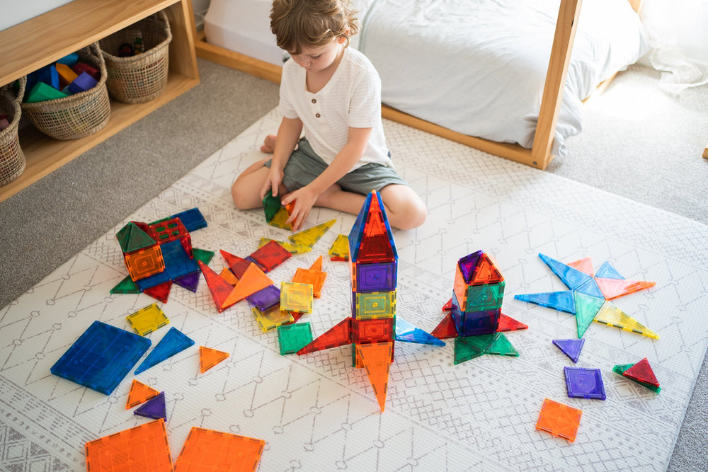 Learn & Grow Magnetic Tiles 110 Piece
