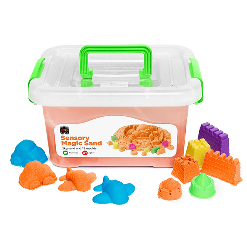 Orange Sensory Magic Sand with Moulds - 2kg