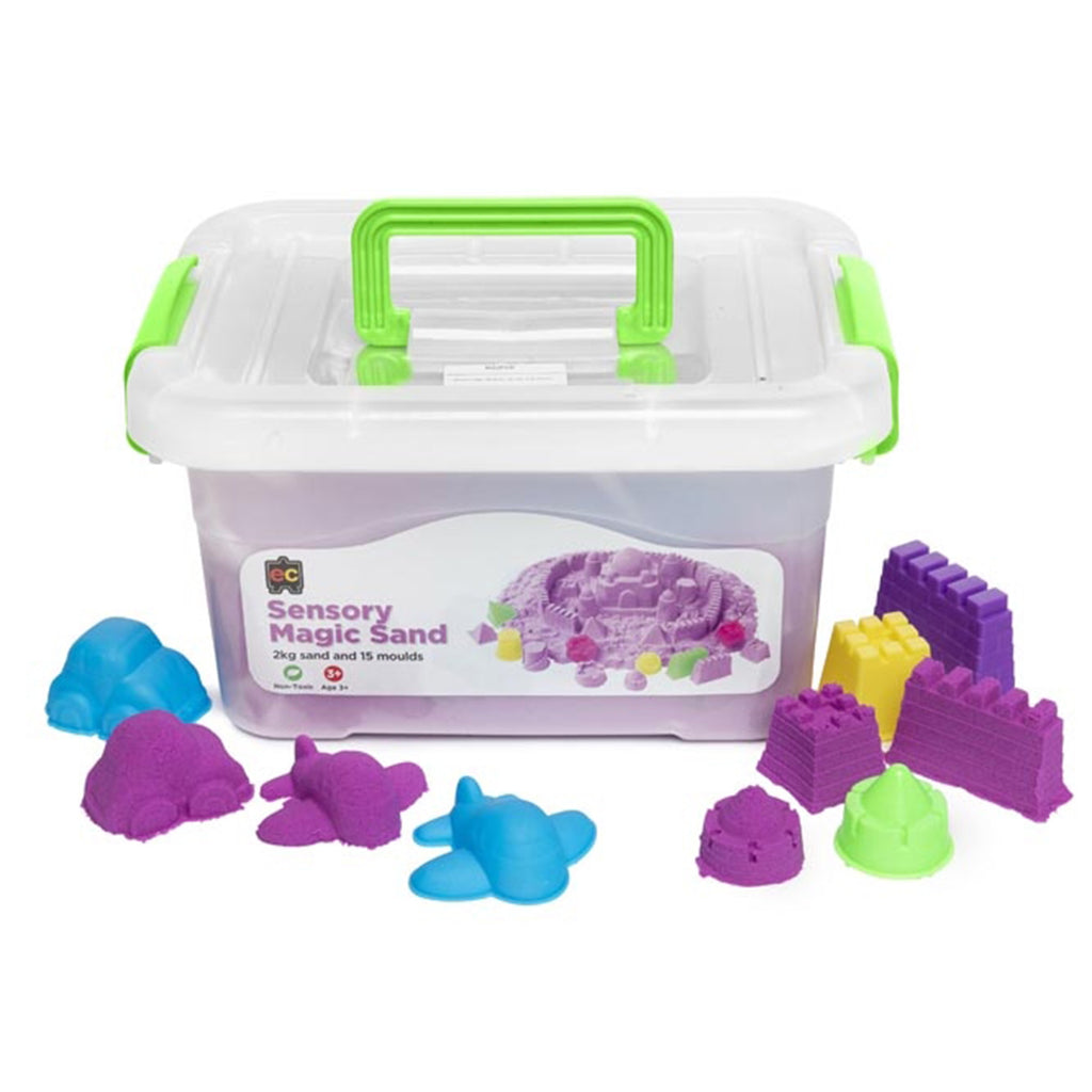Purple Sensory Magic Sand with Moulds - 2kg