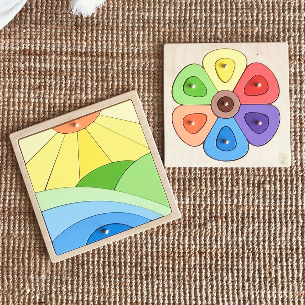Wooden Flower Puzzle | Playful Wood