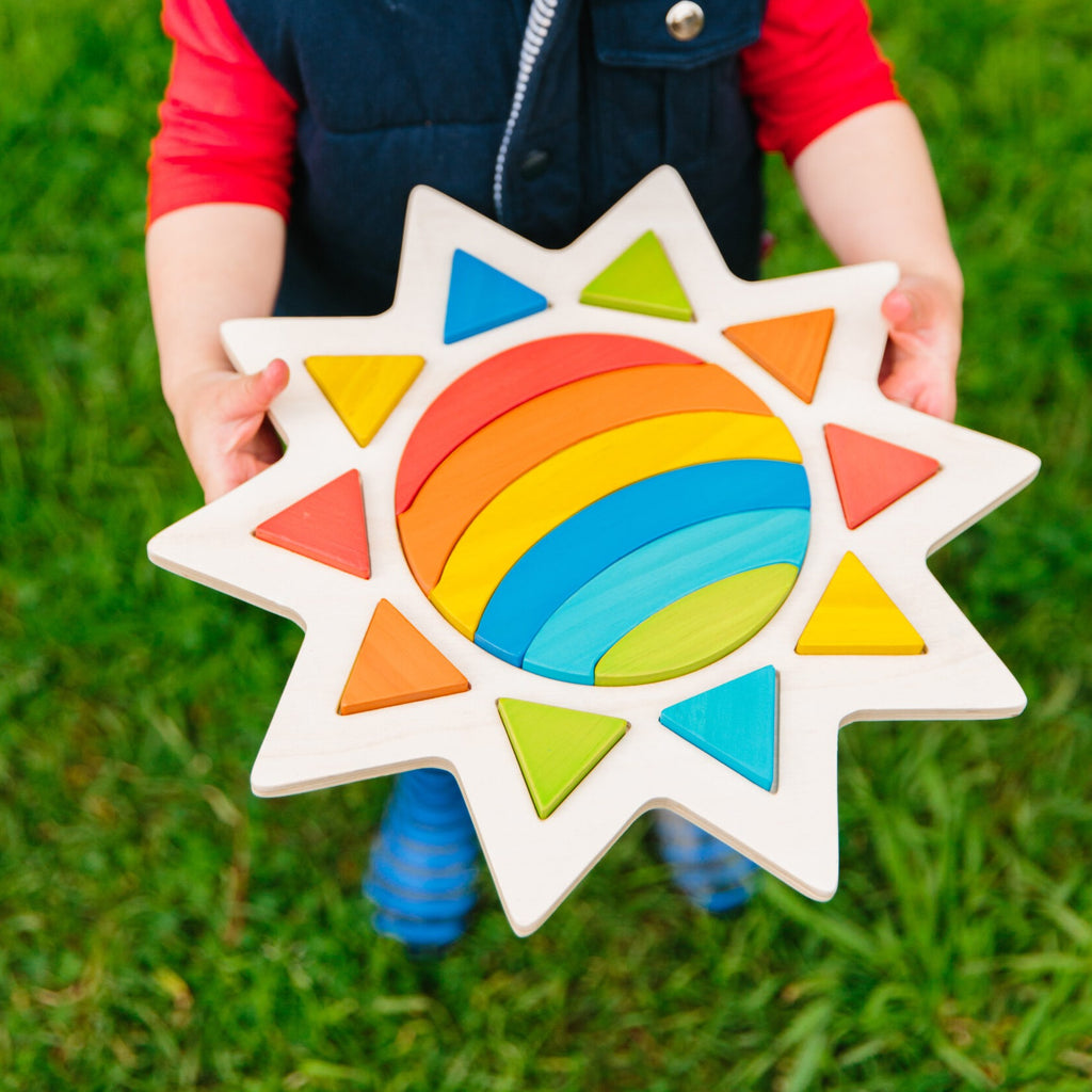 Rainbow in the Sun Puzzle | Freckled Frog