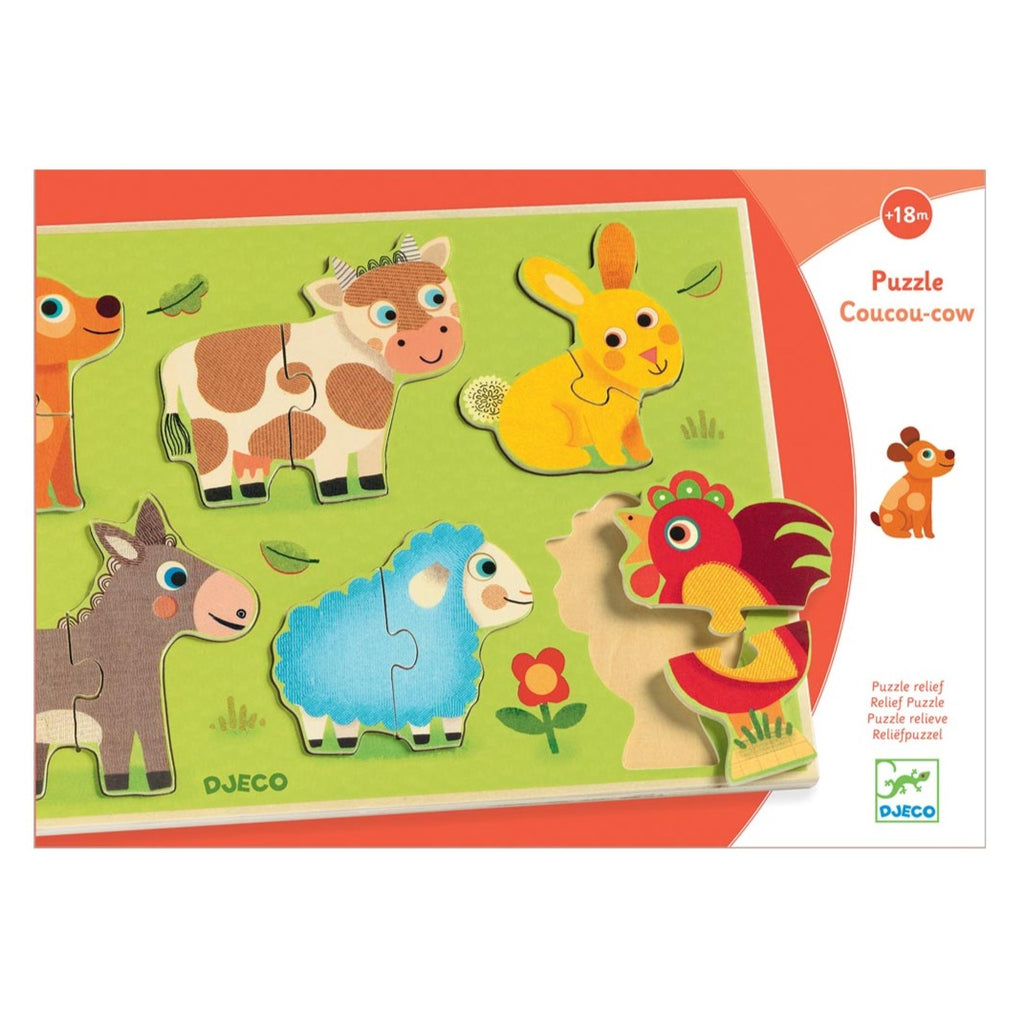 Djeco CouCou Cow Puzzle | Wooden