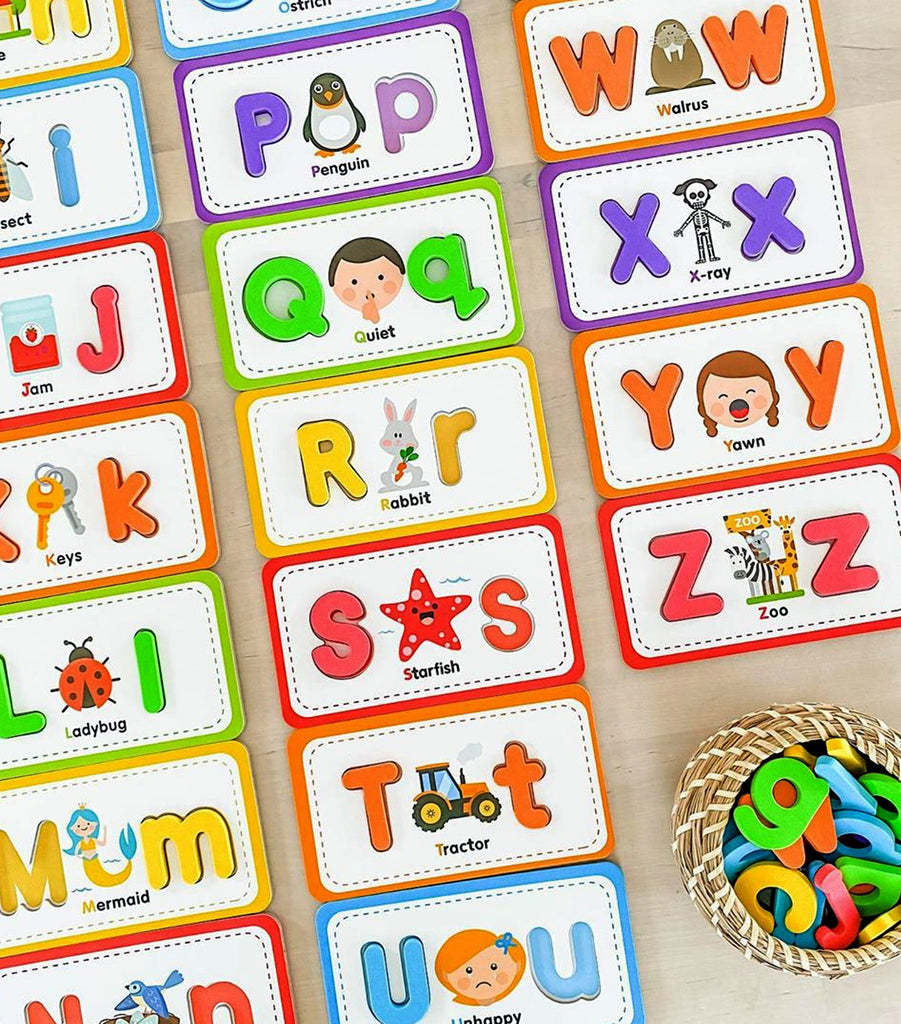 Flashcards and ABC Magnetic Letters