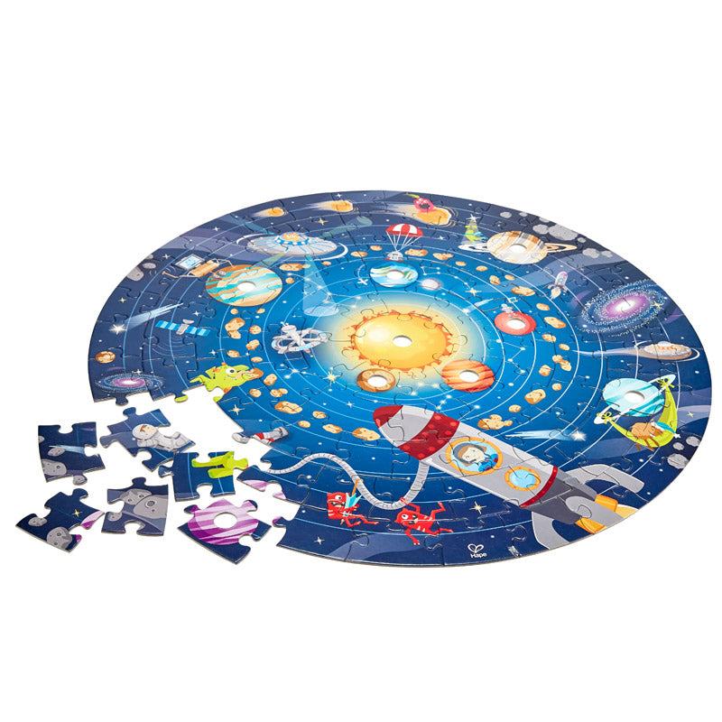 2 in 1 Solar System 102pc Puzzle | Hape