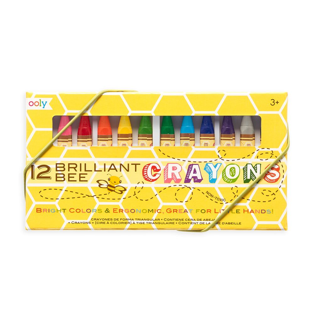Ooly Brilliant Bee Crayons - 12 pack