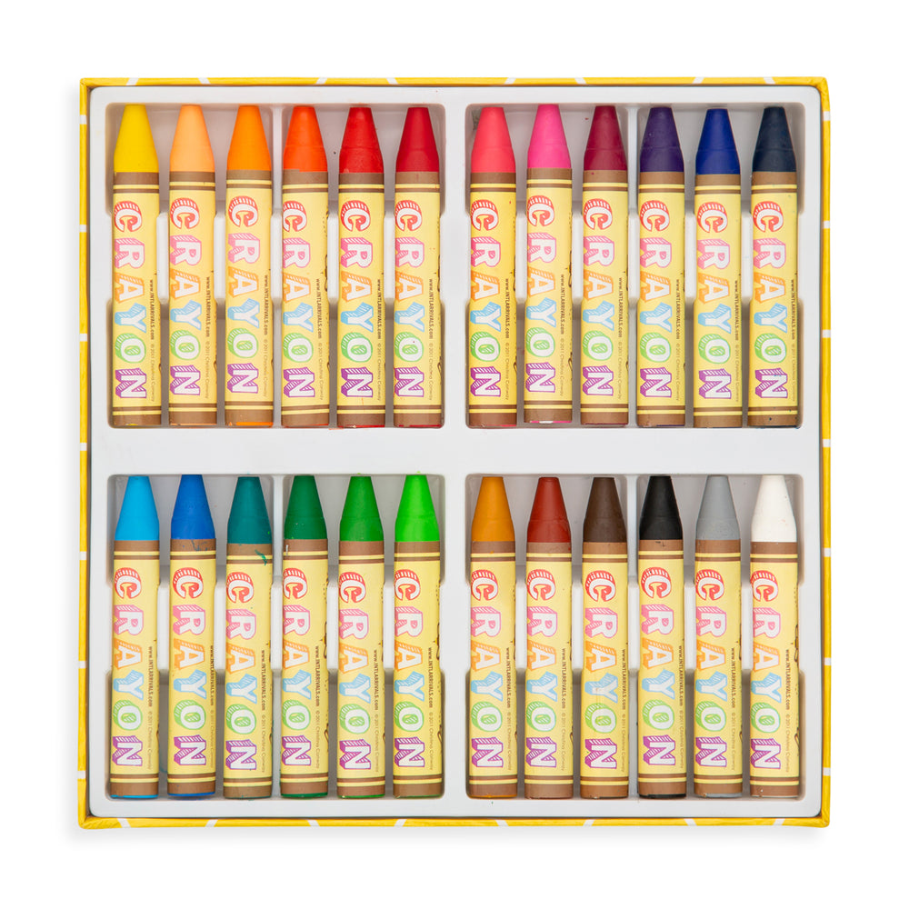 Ooly Brilliant Bee Crayons - 24 pack