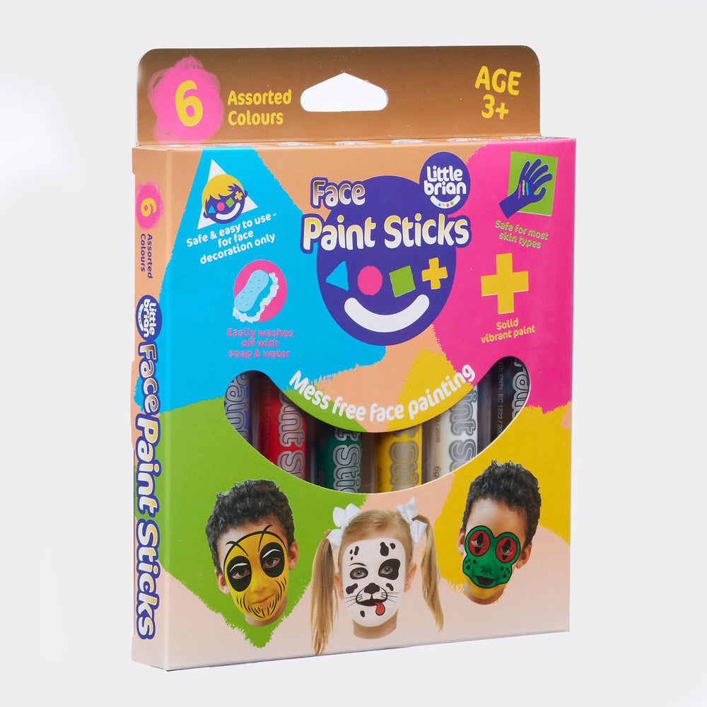 Classic 6 Face Paint Sticks | Little Brian