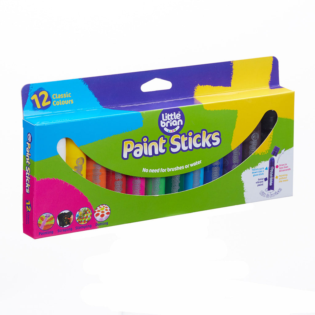 Classic 12 Paint Sticks | Little Brian