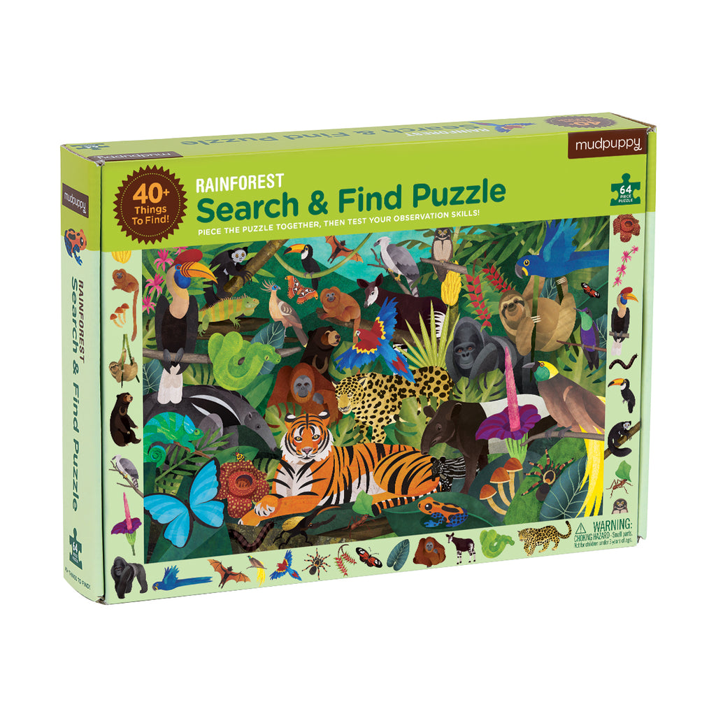 Rainforest Search and Find Puzzle | 64 | Mudpuppy