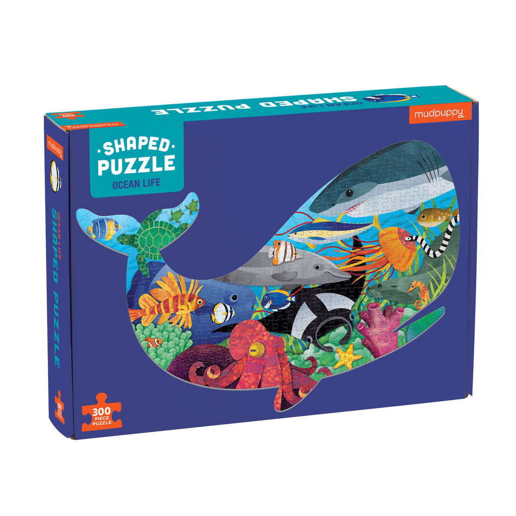 Ocean Life Shaped Puzzle | 300 | Mudpuppy