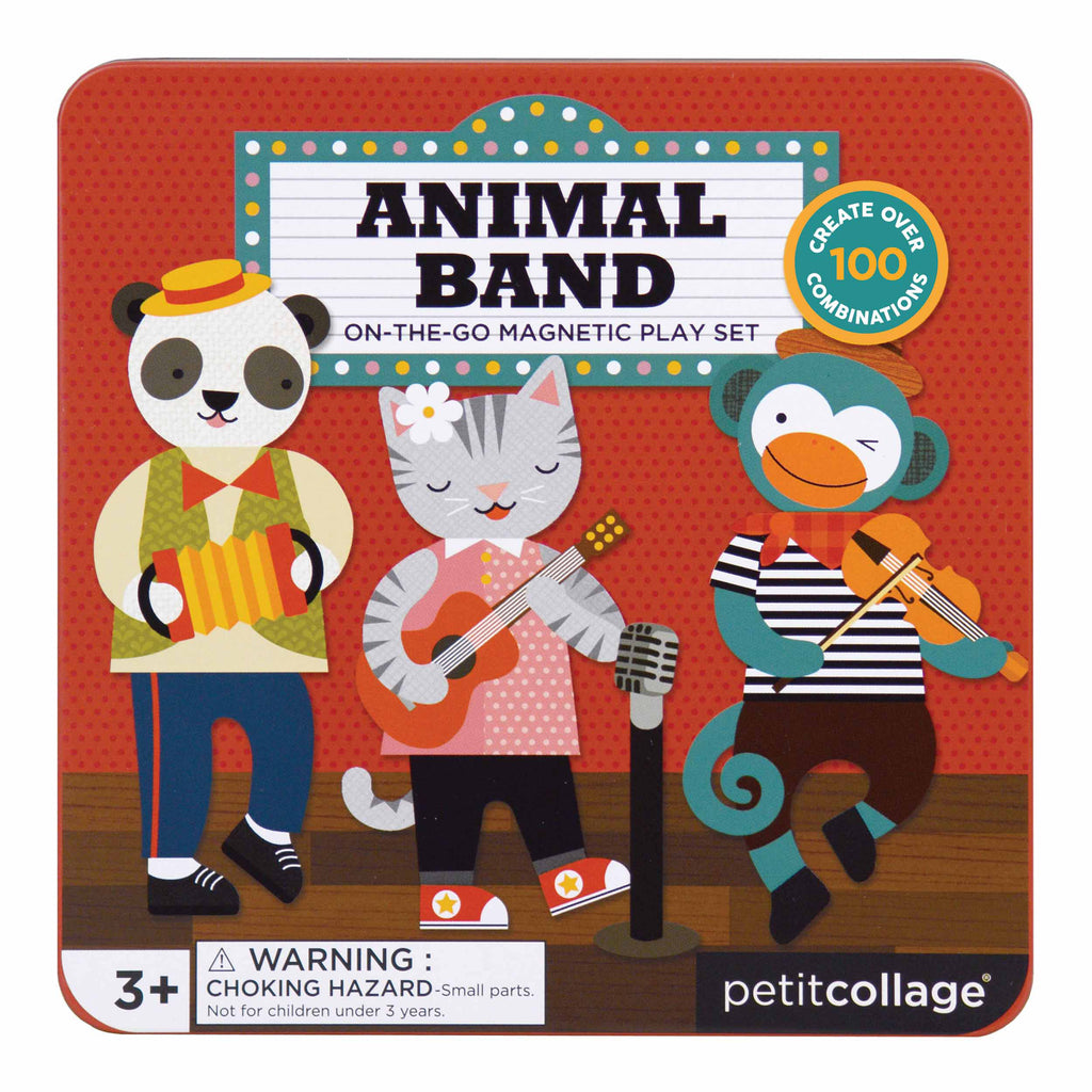 Magnetic Animal Band Tin | Petit Collage