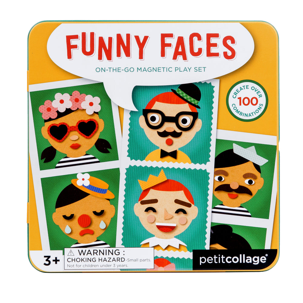 Magnetic Funny Faces Tin | Petit Collage