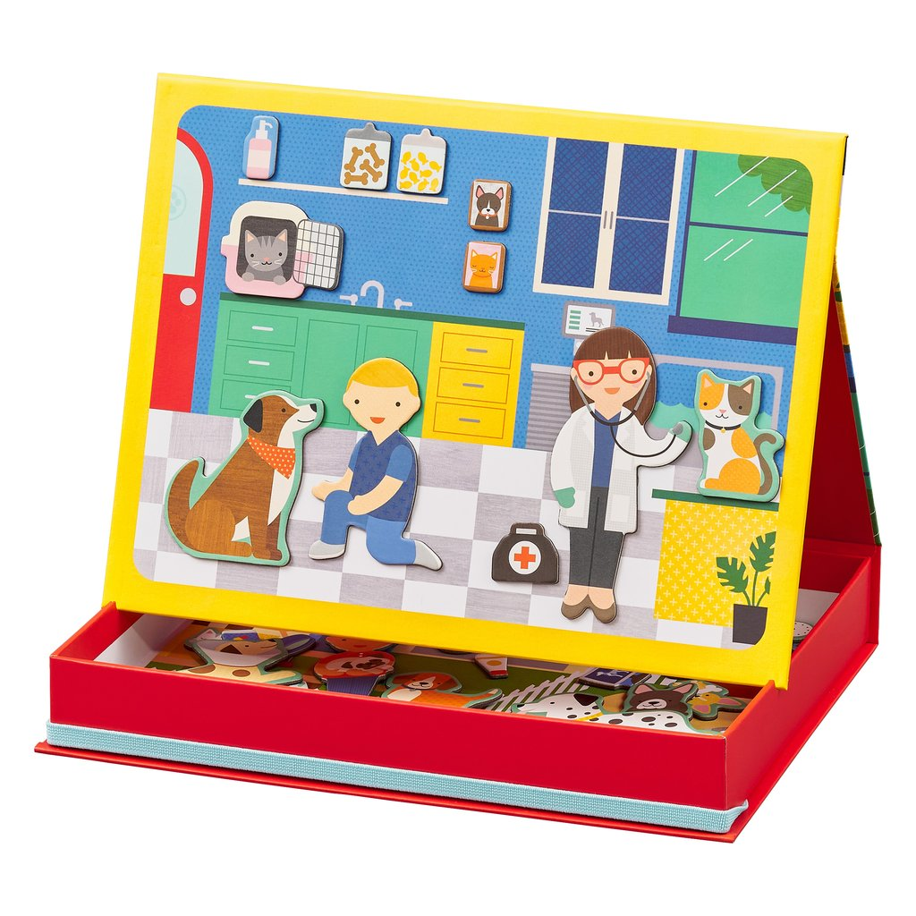 Petit Collage Magnetic Scene - Veterinarian