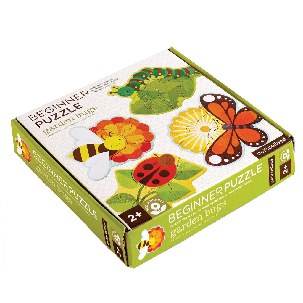 Petit Collage Puzzle - Garden Bugs | Beginner