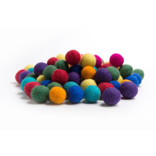 Felt Balls - 45 Rainbow Colours