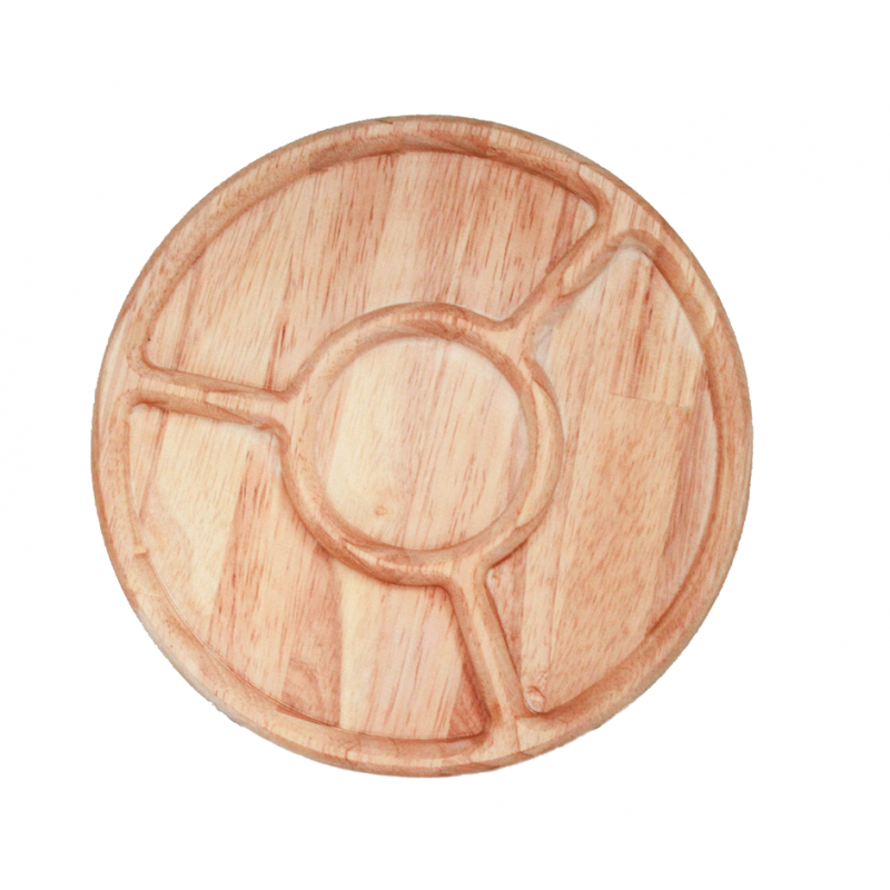 Round Wooden Sorting Tray