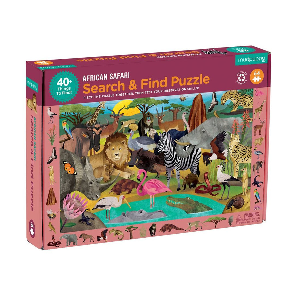 Mudpuppy Search and Find African Safari Puzzle | 64