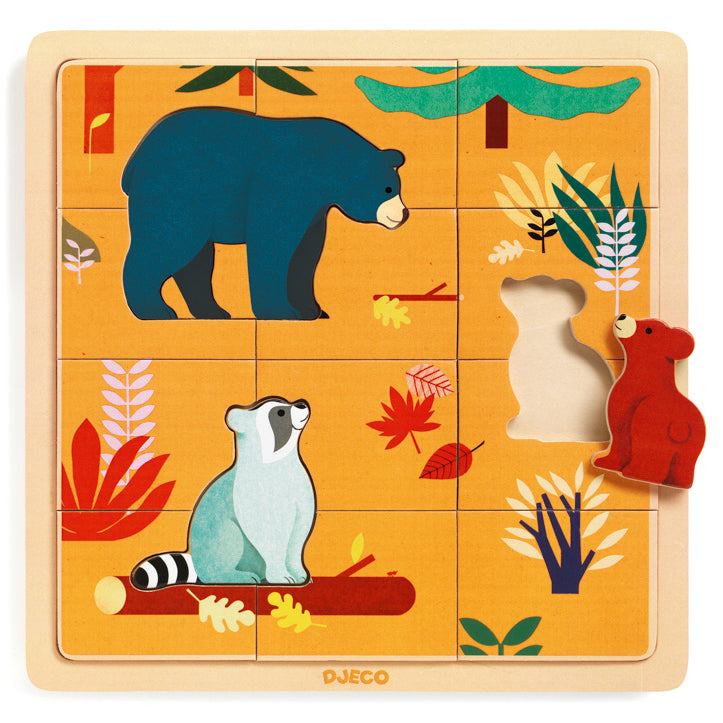 Djeco Animal Puzzle | Wooden