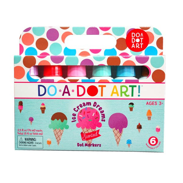 DO A DOT ART Scented Markers - Ice Cream 6 Pack