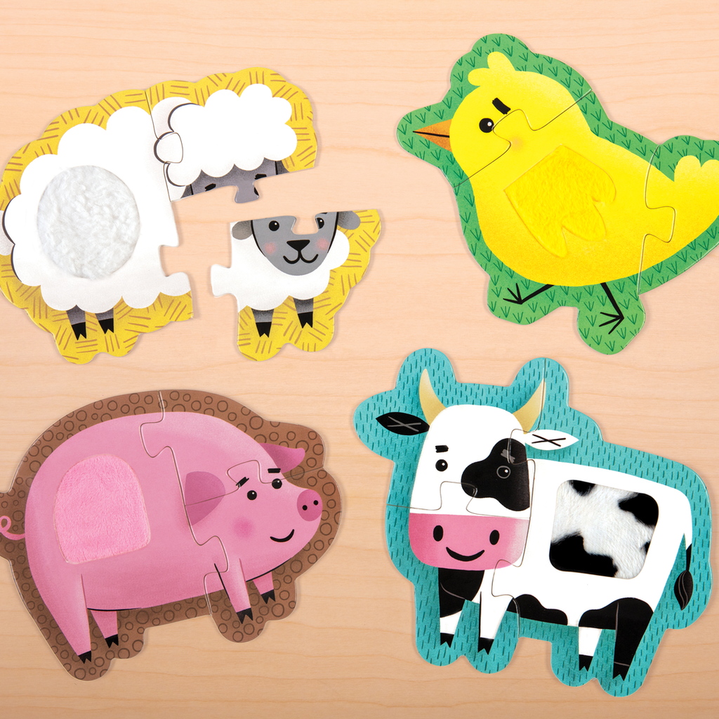Farm Animals Touch and Feel Puzzles | Beginner | Mudpuppy