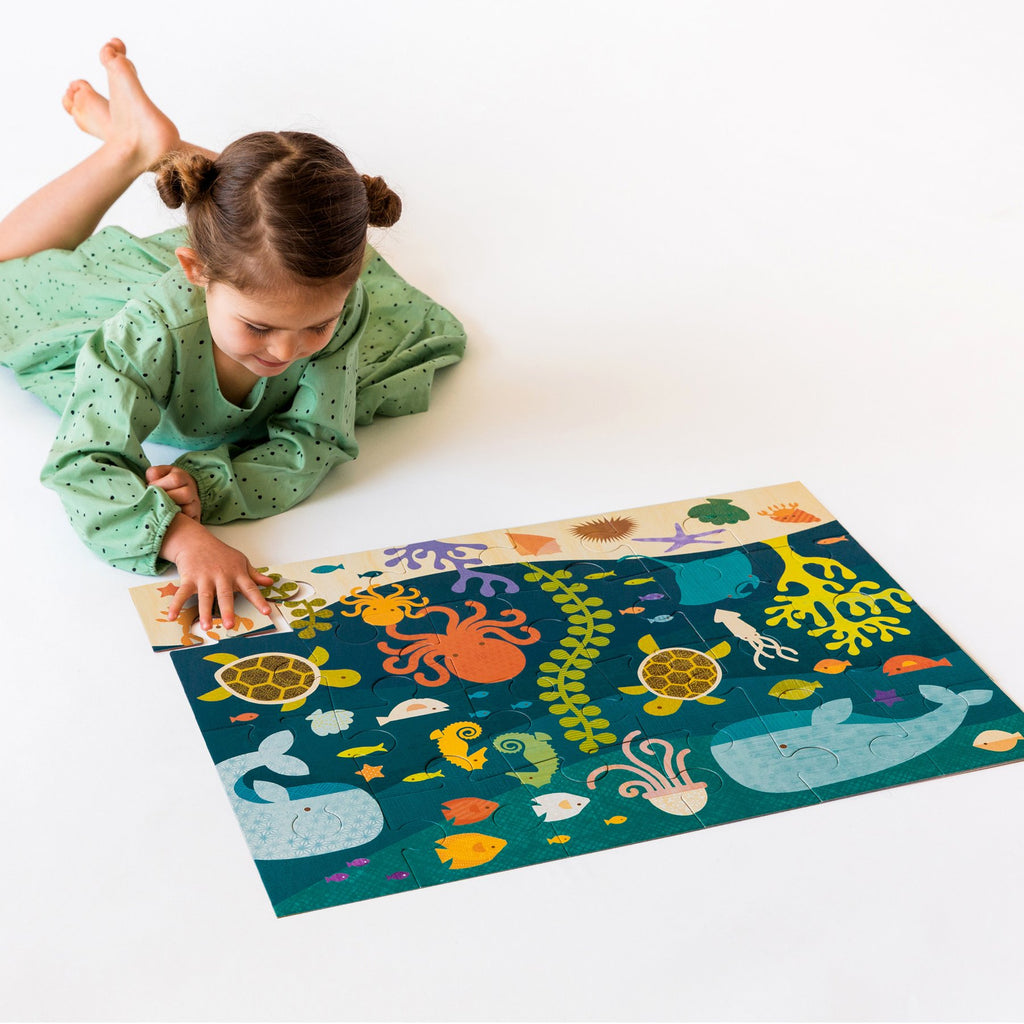 Petit Collage Floor Puzzle - Ocean Life