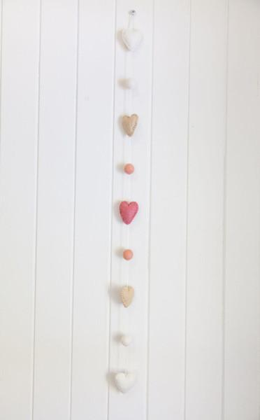 Under The Sea Garland - Coral Hearts