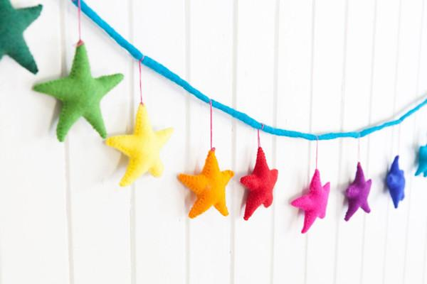 Rainbow Star Garland - Decor
