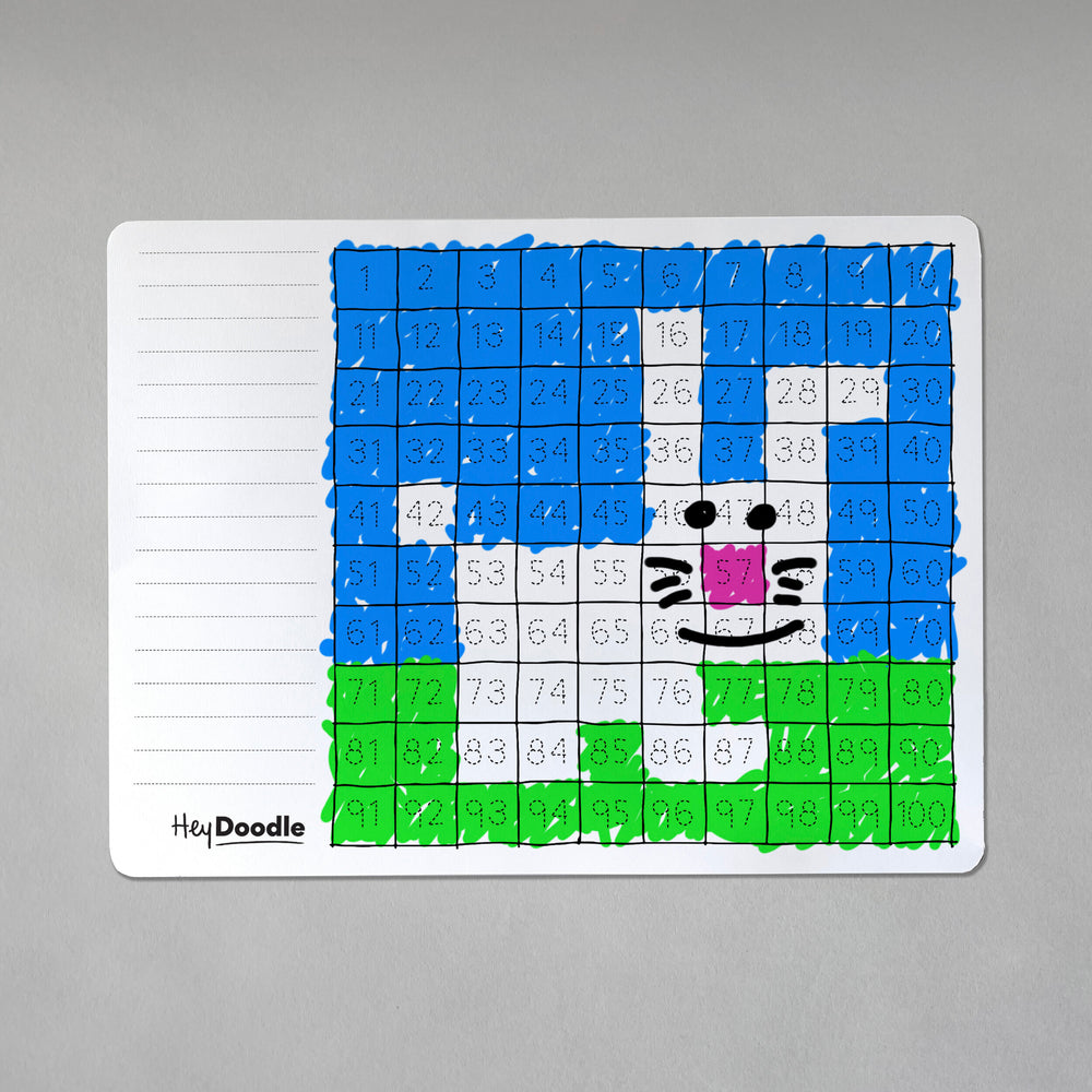 HeyDoodle Reusable Placemat - 100 Squares