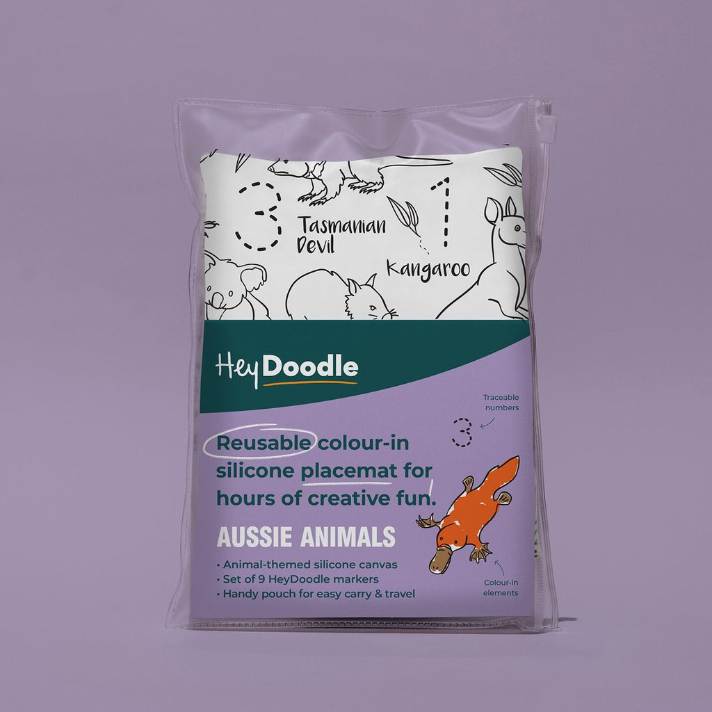 Aussie Animals | HeyDoodle Reusable Placemat