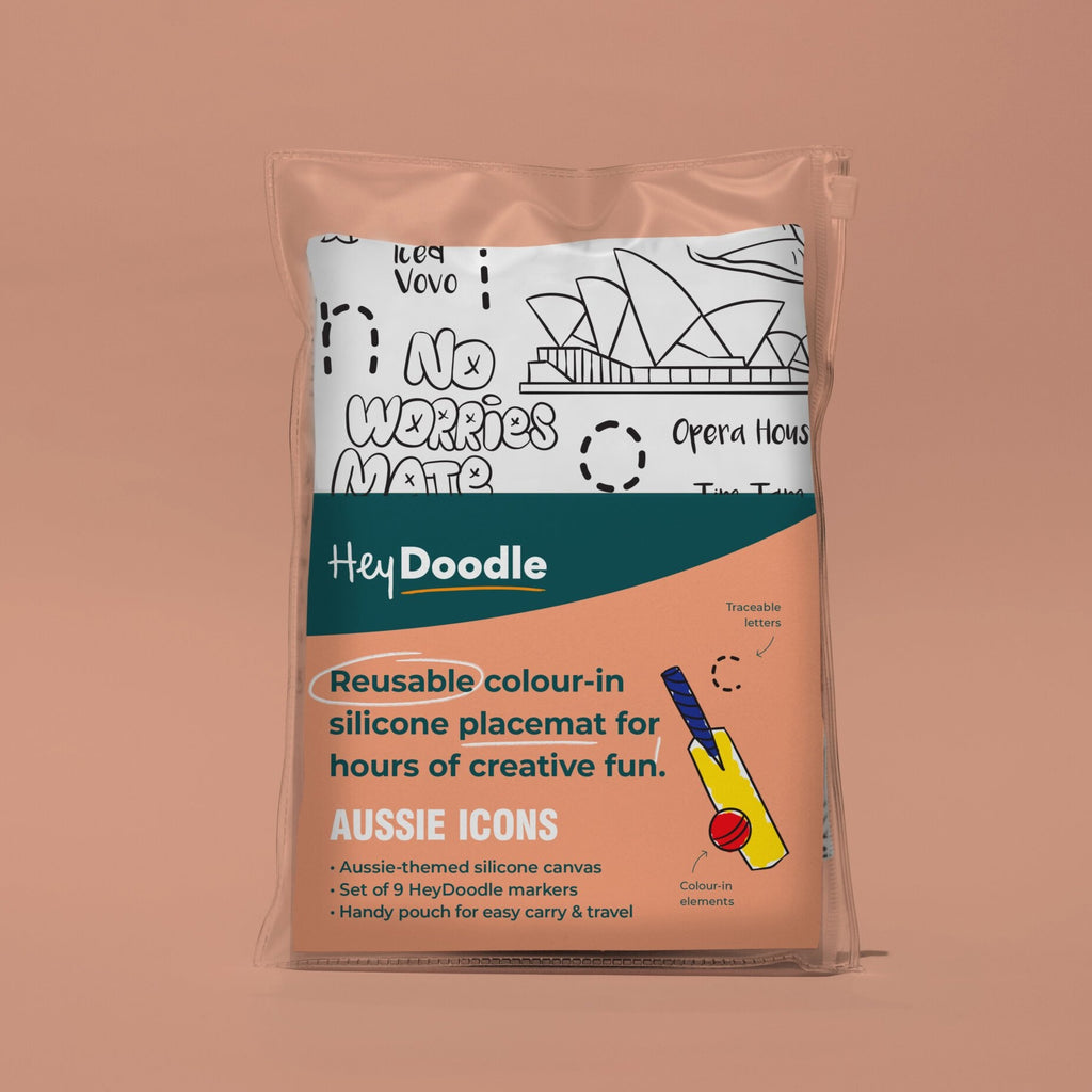 Aussie Icons | HeyDoodle Reusable Placemat