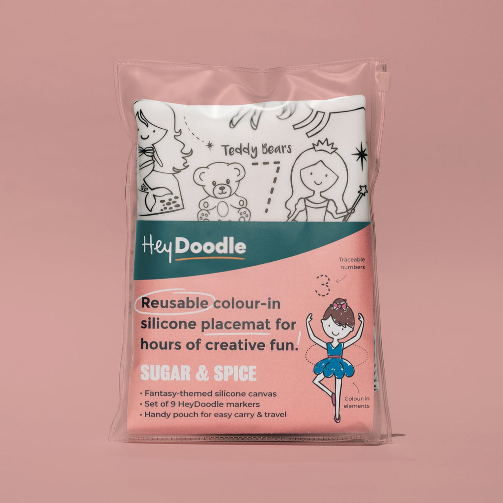 HeyDoodle Reusable Placemat - Sugar & Spice