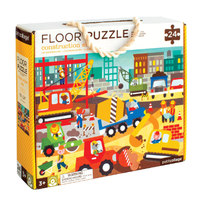 Petit Collage Floor Puzzle - Construction