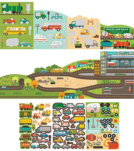 Roads and Rail Sticker Activity | Petit Collage