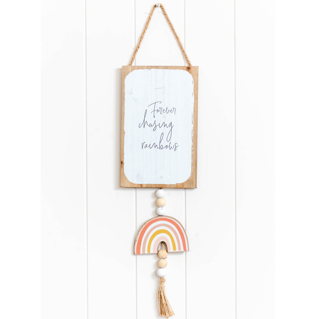 Forever Chasing Rainbows Wall Hanging